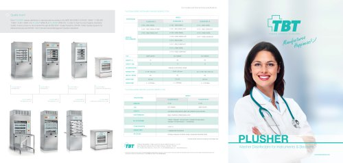 PLUSHER Series Instrument & Bedpan Washer Disinfectors