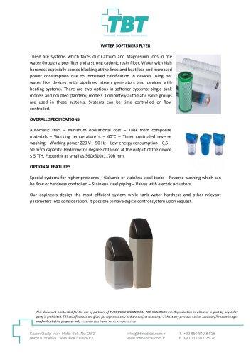 Water Softeners Flyer