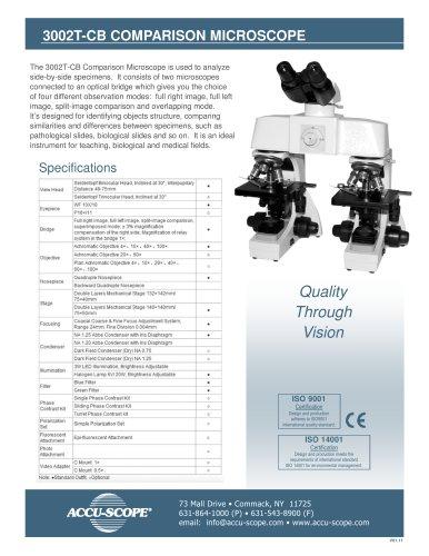 3002T-CB COMPARISON MICROSCOPE