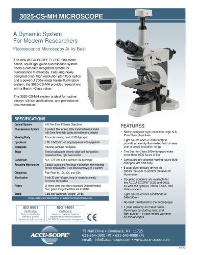 3025-CS-MH MICROSCOPE