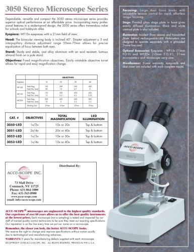 3050 Stereo Microscope Series