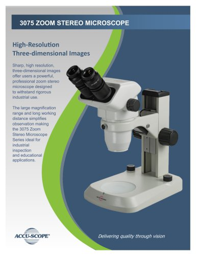 3075 ZOOM STEREO MICROSCOPE