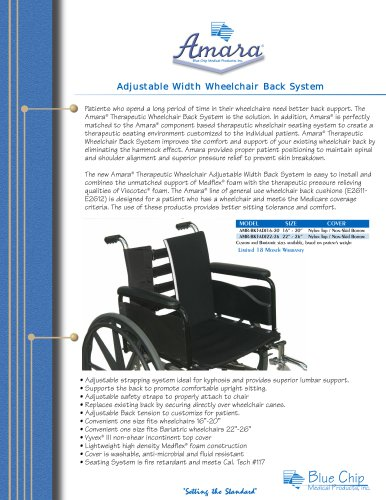 Amara Adjustable Width Wheelchair Back