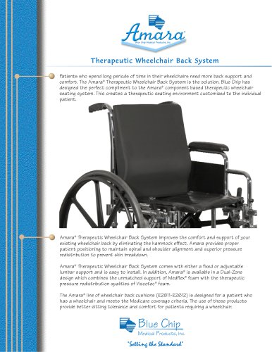 Amara Wheelchair Backs