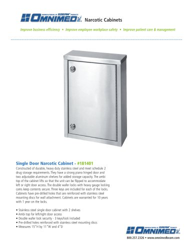 Single Door - 2 Shelves - #181401