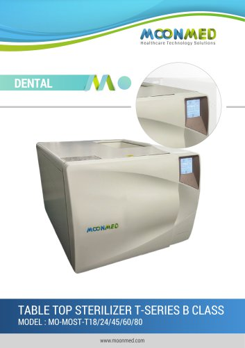 DENTAL TABLE TOP STERILIZER T-SERIES B CLASS