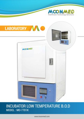 INCUBATOR LOW TEMPERATURE B.O.D MODEL : MO-7701K