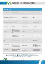 INCUBATOR LOWTEMPERATURE B.O.D MODEL : MO-7721 - 4
