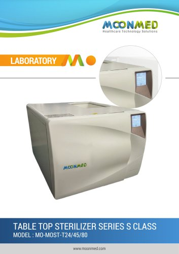 LABORATORY TABLE TOP STERILIZER SERIES S CLASS