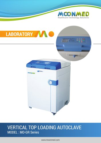 MO-GR Series VERTICAL TOP LOADING AUTOCLAVE