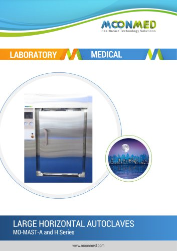 MO-MAST-A and H Series LARGE HORIZONTAL AUTOCLAVES