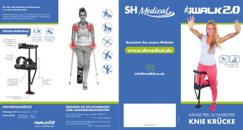 hands free crutch/height adjustable/catalog