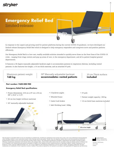 Emergency Relief Bed