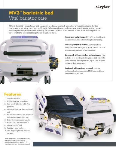 MV3 bariatric bed