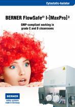 BERNER Cytostatic Glovebox Isolator - 1