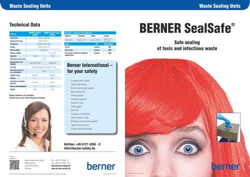 BERNER SealSafe
