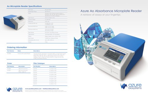 Ao Absorbance Microplate Reader