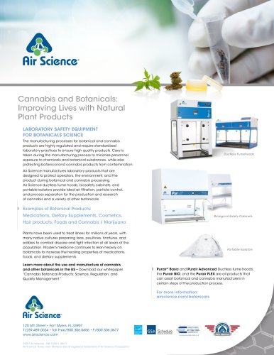 LABORATORY SAFETY EQUIPMENT FOR BOTANICALS SCIENCE