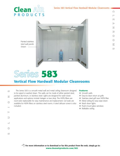 Series 583 Vertical Flow Hardwall Modular Cleanrooms