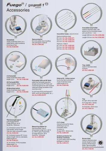 Accessories for Fuego SCS Serie & Gasprofi 1 micro Serie