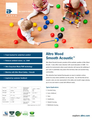 Altro Wood Smooth Acoustic™