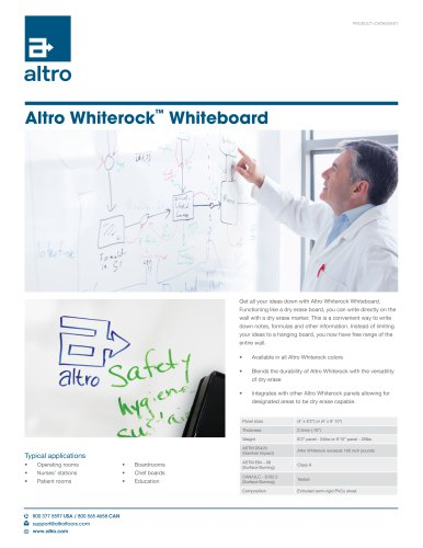 Whiterock™ Whiteboard