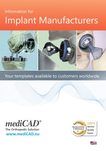 Information for Implant Manufacturers