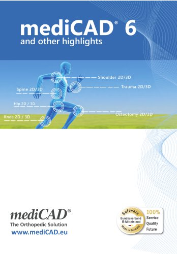 mediCAD 6 and further highlights