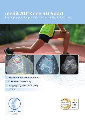 mediCAD® Knee 3D Sport