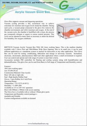 acrlic vacuum glove box