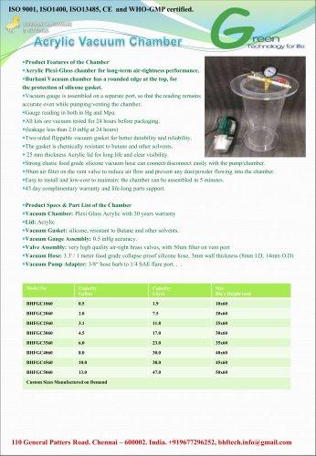 Acrylic Vacuum Chamber Cylinder