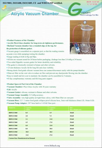 Acrylic Vacuum Chamber Cylinder Burhani BHFTECH