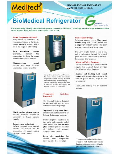 Biomedical refrigerator
