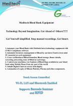 Blood Bank Equipment Touch Screen Meditech