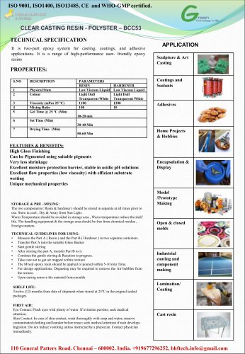 CLEAR CASTING RESIN-POLYSTER