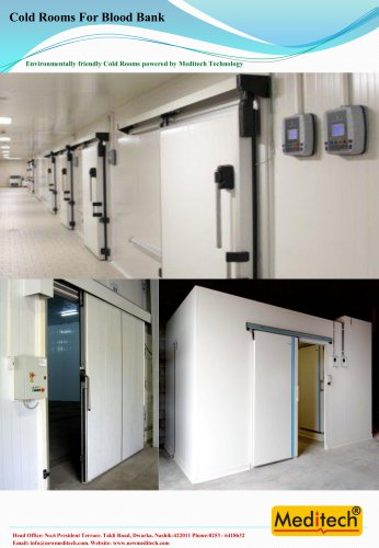 cold room for blood bank