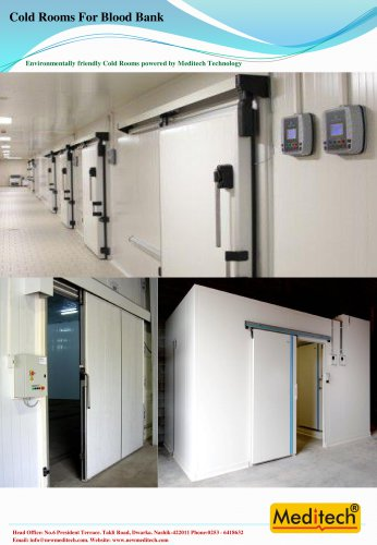 Cold rooms for Blood Bank