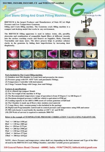 Gemstone Oiling & Crack Filling Machine