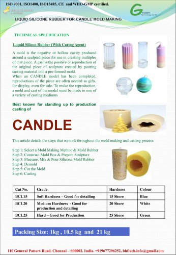 Liquid Silicone Resin for Candle Mold Making