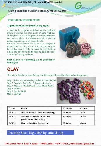Liquid Silicone Resin for Clay Mold Making