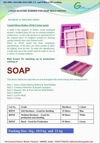 Liquid Silicone Resin for Soap Mold Making