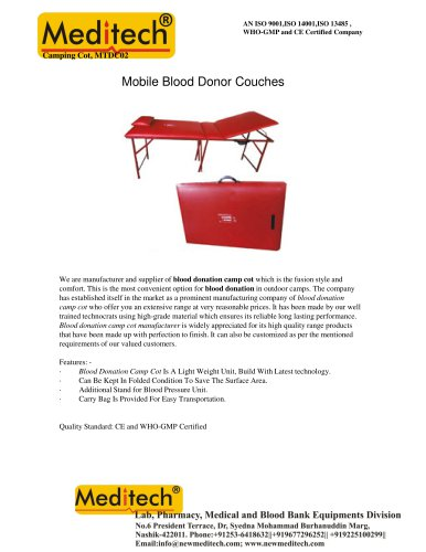Mobile Blood Donor Couches