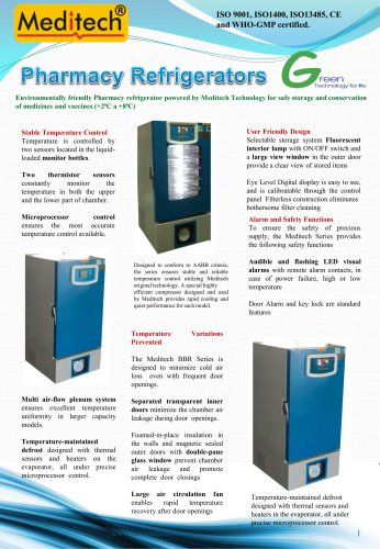 Pharmacy Refrigerator Meditech
