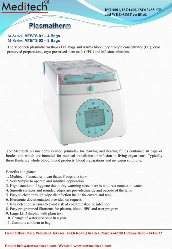 plasmatherm plasma thawing bath meditech