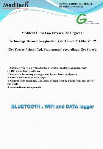 Ultra Low Deep Freezer -86 with Bluetooth