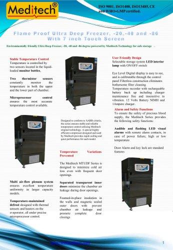 Ultra Low Deep Freezer -86 with Touch Screen Meditech