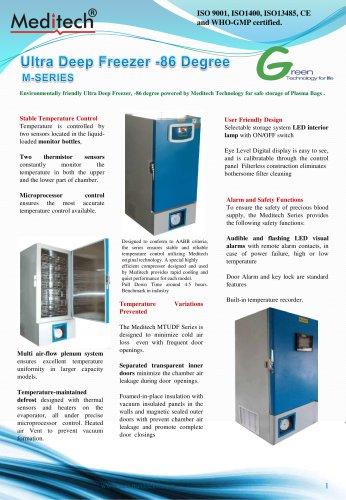 Ultra Low Plasma freezer with backup