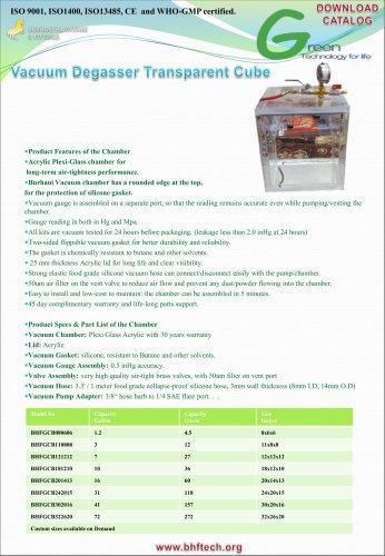 Vacuum Degasser Transparent Cube