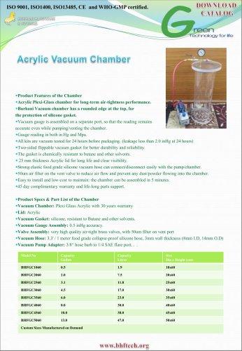 Vacuum Degasser Transparent Cylinder