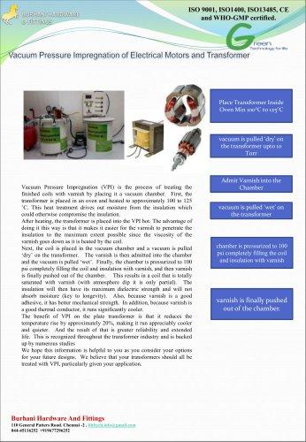 vacuum impregnation of Electrical Motors and Trasnformer